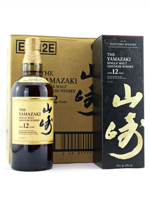 Yamazaki-Case of 6 Bottles-12 Year Old Single Malt Japanese Whisky-F-900X1250-Malt Whisky Agency