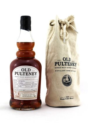 Item ID: Old Pulteney 11 Year Old. Sherry Cask No.1466 Distillery hand bottling Bottle numbers 27 and 30 available. Filled 22nd November 2007 Bottled 19th July 2019 Comes with cloth bag. Item Information Distillery: Old Pulteney Bottle Size: 70cl Limited Release: Distillery Hand Bottling Strength: 63.3% abv Region: Highland Approx. Shipping Weight: 2.5 kg Comments: Please select Description below for more information-Malt Whisky Agency
