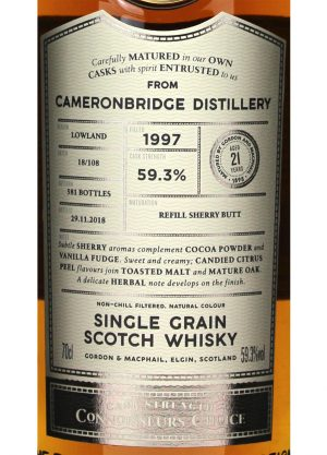 Cameronbridge-Gordon & MacPhail 21 Year Old-L-900x1250-Malt Whisky Agency