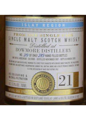 Bowmore-Douglas Laing XOP 21 Year Old 57.6%-L-900x1250-Malt Whisky Agency