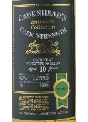 Inchgower-Cadenheads 10 Year Old 2009 56.6%-L-900x1250-Malt Whisky Agency