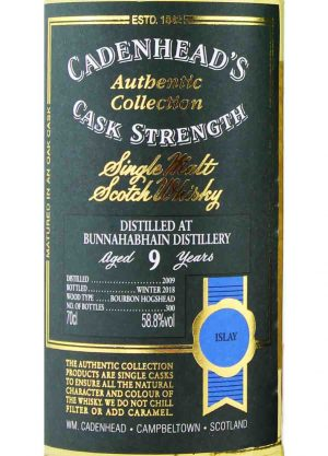 Bunnahabhain-Cadenhead's 9 Year Old 2009 58.8%-L-900X1250-Malt Whisky Agency
