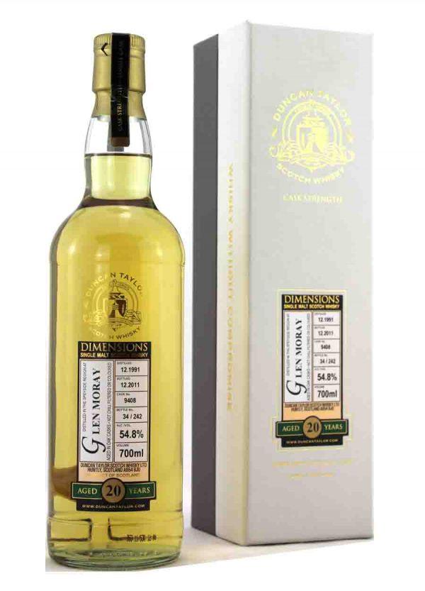 Glen Moray-Duncan Taylor 1991 20 Year Old 54.8%-F-900x1250-Malt Whisky Agency