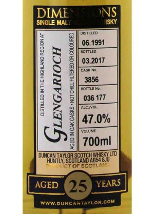 Glengarioch-Duncan Taylor 25 Year Old 47%-L-900x1250-Malt Whisky Agency