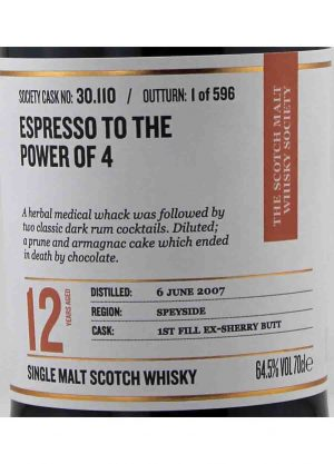 Glenrothes-SMWS 30.110 12 Year Old 64.5%-L-900x1250-Malt Whisky Agency