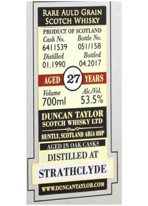Strathclyde-Duncan Taylor 1990 27 Year Old 53.5%-L1-900x1250-Malt Whisky Agency