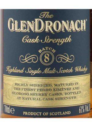 Glendronach Batch 8 Cask Strength 61%-L-900x1250-Malt Whisky Agency