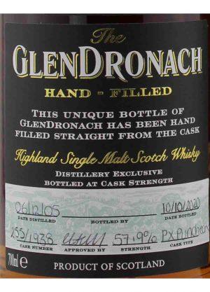Glendronach 2005 Hand Filled PX 1938 57.9%-L-900x1250-Malt Whisky Agency