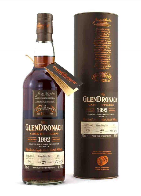 Glendronach 27 Year Old 1992 Cask#182 49.5%-F-900x1250-Malt Whisky Agency