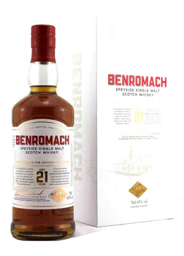 Benromach 21 Year Old Scotch Whisky 43%-F- 900 x1250-Malt Whisky Agency