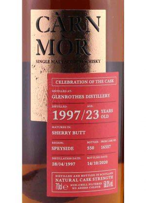 Carn Mor-Glenrothes 1997 23 Year Old 58%-L-900x1250-Malt Whisky Agency