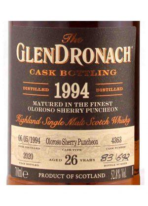 GlenDronach 26 Year Old 1994 Cask 4363 52.8%-L-900x1250-Malt Whisky Agency
