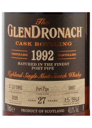 GlenDronach 27 Year Old 1992 Cask 5897 48%-L-900x1250