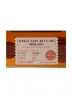 Arran 1995 25 Year Old Hogshead Cask No.251 52.4%-L-900x1250-Malt Whisky Agency
